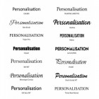 Image of fonts available