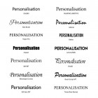 Fonts for product personalisation