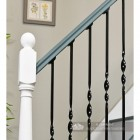 Traditional stair spindles on stair case
