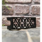 "Black cast iron air brick 2.5"" x 8.5"""
