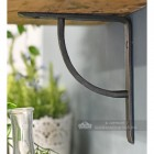 Beeswax finish simplistic arched shelf bracket