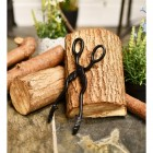 Beautiful hand forged wood burner tongs can be used for coal