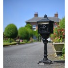 Ornate Huntington letter box finished in black