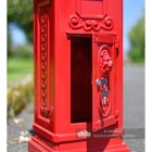 Secure post box with keys