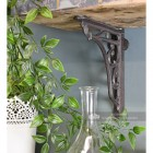 Cast iron interior shelf bracket