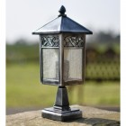 Brushed Silver and black driveway lamp