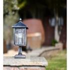 Antique Black and Silver Classic Pillar Light 37cm