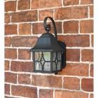 Wall mounted black garden wall lantern