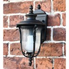 Bronze Christleton Wall Lantern on brick wall