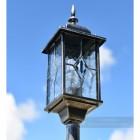 Close up of lantern on entrance way lamp post