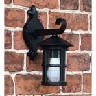 top fix black wall lantern