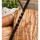 Detailed image of blacksmith twist on handle of brush