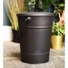 Black Ask Bucket or kindling bucket with lid