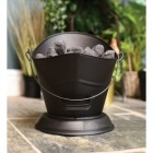 Front View of the Black Coal Bucket