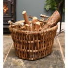 Household woven fireside log holder
