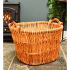 Traditional handwoven wicker basket