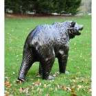 View of the Back of the Bear Cub Antique Bronze Garden Sculpture