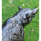 Top View of the Bear Cub Antique Bronze Garden Sculpture