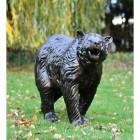 Antique Bronze Bear Cub Garden Sculpture in Situ Outdoors