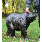 Bear Cub Antique Bronze Garden Sculpture to Sclae