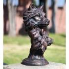 Bronze Finish Wolf Head Bust