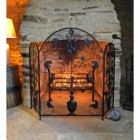 Beautiful Fire Guard  with robin detail