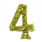Berry & Leaf Polished Brass Numbers