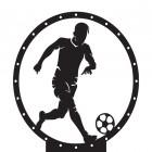 Footballer Weathervane Top