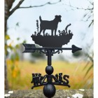 Jack Russel Pedigree dog weathervane in garden