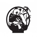 Panda weathervane topper