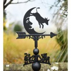 Cow Jumping over the moon weathervane in garden