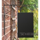 View of the Black Bespoke Hanging sign Before Design