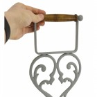 Heart Design Free Standing Toilet Roll Holder Scale