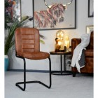 Leather & Iron Dining Chair in Situ