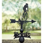 Cyclist Weathervane in Situ Outdoors