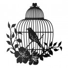 Bird Cage Wall Art in a Black Finish