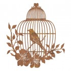 Bird Cage Wall Art in a Rustic Finish