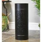 Iron Floral Design Umbrella Stand in a Black Finish