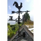 Large Black Cast Iron Rooster Weathervane