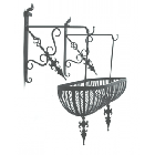 """Goose Abbey"" Double Hanging Floral Trough"