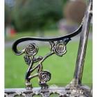 Black and Bronze Rose Design Bench Arm