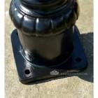 Black Cast Iron Pillar Post Baseplate