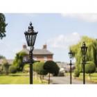 Black Concordia Hexagonal Lamp Post & Lantern Set 2.3m