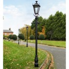 Black Dorchester Lamp Post & Lantern Set 2.7m