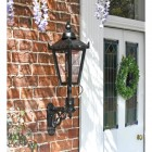 Black Exterior Traditional wall lamp
