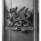 Black Finish Welsh Dragon Door Knocker