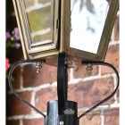 Black frog collar on dorchester wall lantern