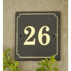 Black & Gold Granite House Sign