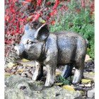 Black & Gold Piglet Sculpture in situ in the Garden