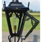 Front opening Door on the Black Gothic Pillar Light Lantern